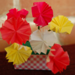 折り紙でカーネーション♪