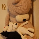 モノクロの世界・編みネコ♪